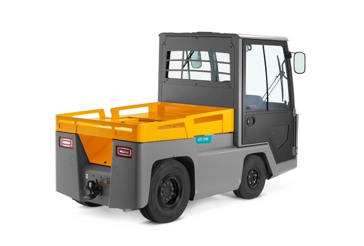 Jungheinrich EZS 7280 - maximised towing capacity (up to 28 t) and especially strong on ramps.